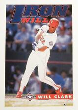 "1990s Will Clark ""Iron Will"" Costacos Mini Promo Poster 4"" x 6"""