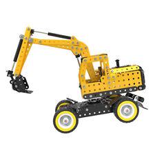 DIY Engineering Excavator Metal Jigsaw Puzzle Assemble Model Kits Jigsaw Toy