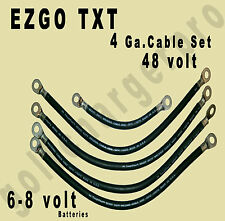 EZGO TXT Golf Cart Car 48 Volt 4 Gauge HEAVY DUTY Battery Cable Wiring Set