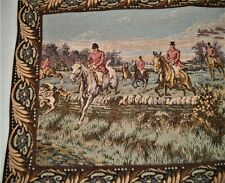 "Goblys Tapestry Fox Hunt Lined Made in France 43.5"" x 23"""