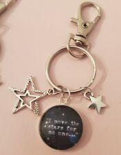 Labyrinth Film Quote Jareth Move The Stars Bowie Keyring Bag Charm Gift Tag