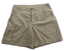 Patagonia Women's Shorts Cargo Pocket Tan Outdoor Hiking Nylon Blend Size 4