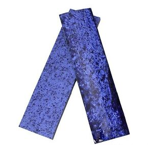 "KIRINITE: Arctic Blue Ice  3/8""  6"" x 1.5"" Scales for Wood Working, Knife Making"