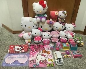 LARGE Sanrio Hello Kitty Plush Toy Lot Of 30 Plushes Figures Toys Japan Chococat