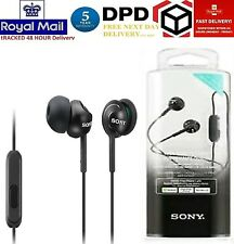 NEW SONY MDR-EX110APB.CE7 In-ear Headphones Black 5 - 24,000 Hz 1.2 m Neodymium