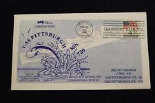 DRW NAVAL COVER #75 COMMISSIONING USS PITTSBURGH (SSN-720) 1985 MACHINE CANCEL