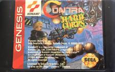Contra Hard Corps NTSC-U 16 bit MD Sega Genesis GameGear Only 1994 Cartridge