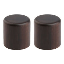2pcs Rose Wood Tele Style Dome Knobs Guitar Wood Barrel Knobs for Metric Pots