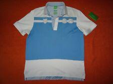 HUGO BOSS Partino Gr.S Poloshirt Green Label Blau Weiß Regular Fit Golf Paddy