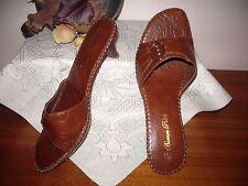 "Women's heels ""Bianca Poleti"" size 8, mid tan, slip-on, decor metal/diamont., as"