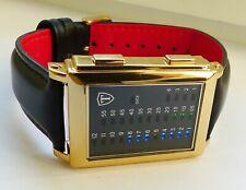 DETOMASO SPACY TIMELINE G-30723-G Binär  Herren Armbanduhr Neu mit OVP