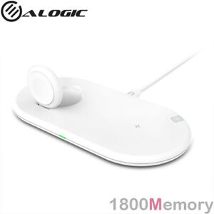 Alogic Rapid 10W Wireless Charging Dock Qi for Apple Watch & iPhone White