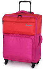 IT Luggage Megalite Duo Tone 4 Wheel Medium Orange / Fuchsia Purple Suitcase New