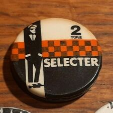 "Vintage 2 Tone THE SELECTER 1"" Tin Pin/Badge from the UK SKA TWO Tone"