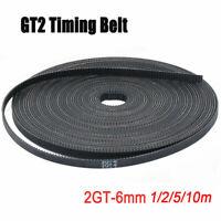 1/2/ 5/10m GT2 Zahnriemen Breit Glasfaser Belt offen Timing für 3D Drucker 6M