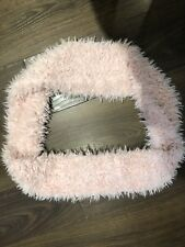 Girls River Island Pink Super Soft Faux Fur Scarf