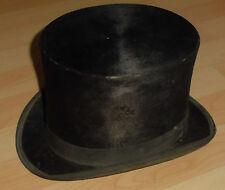 """dachbodenfund chapeau fell zylinder hut alt top deko """" mausfell """" fabrik marke"""