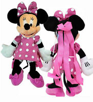 """Disney Minnie Mouse 18"""" Plush Backpack Pink Dress Doll Figure Stuffed Toy - Pink"""