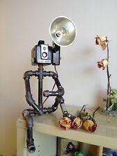 Kodak Hawkeye Brownie Camera Industrial Robot Black Pipe Lamp Flash Photography
