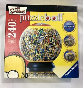 THE SIMPSONS 240 Piece Junior Puzzleball Jigsaw Puzzle RAVENSBURGER 3D ball 2005