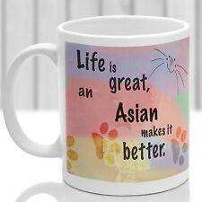 Asian Cat Mug, Asian Chat Cadeau, idéal cadeau pour chat amoureux