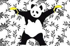 Panda Bananas Banksy Poster 18x12 inch