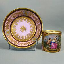 Vienne Tasse Litron Porcelaine 19ème Diane & Cupidon