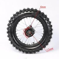 "80/100 - 12"" Inch Rear Back Wheel Rim 90cc 110cc 125cc Dirt Pit PRO Trail Bike"