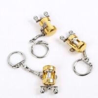 Creative Fly Reel Key Chain Trolling Fishing Metal Keychain Key Ring Travel Gift