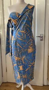 Lavish Alice Size 10 Tropical Print Midi Dress Races Wedding