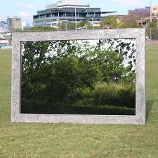 Silver Plain Frame Mosaic Crackle Design Wall Mirror 120CM X 80CM New Handmade