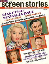 Lana Turner Clark Gable Judy Garland Bette Davis SCREEN STORIES magazine 1971