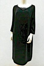 🌟 MARINA RINALDI Black Velvet Dress PLUS size MR 21-USA 12W_ IT50_ D42_ GB16