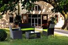 4pcs Outdoor Garden Rattan Patio Wicker Furniture Relax Sofa Table W/cushio Set