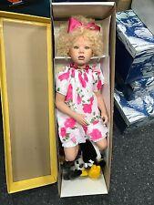 Künstlerpuppe Porzellan Puppe 75 cm. Top Zustand
