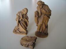 Lepi alte Krippenfigur Heilige Familie Maria Josef geschnitzt