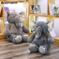 Giant Plush Elephant Toys Grey Stuffed Long Plush Animal Toys Valentine's Gift