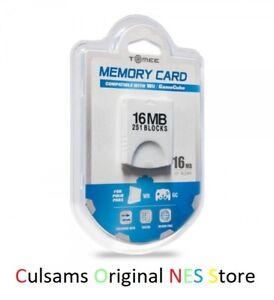 NEW 16MB (251 BLOCKS) Memory Card for Nintendo Wii / GameCube - USA SELLER