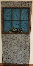 HERITAGE LACE BLACK HALLOWEEN SPIDER & WEB DOOR/CURTAIN PANEL A186
