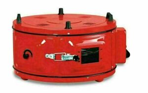 TURKISH ELECTRICAL ROASTER DOUBLE GRILL ROUND OVEN WITH ENAMEL TRAYS - RED