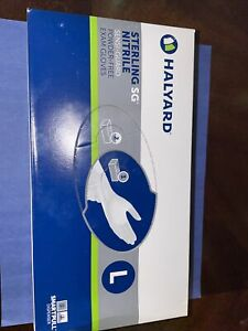 15 boxes HALYARD STERLING SG Exam Gloves, Powder-Free, 250ct/each, L, 3750Total