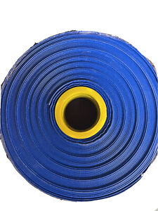 40m Blue  PVC lay flat hose - 4 Bar