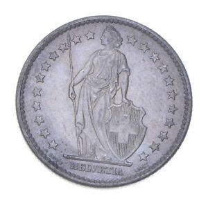 SILVER - WORLD Coin - 1965 Switzerland 2 Francs - World Silver Coin *966