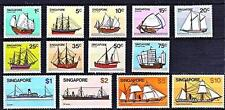 Singapore stamps 1980 Ship def Low and High Value Complete set MNH sea transport