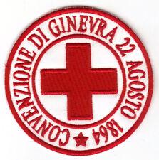 [Patch] CROCE ROSSA ITALIANA CONVENZIONE DI GINEVRA cm 7,5 toppa ricamo CRI -071