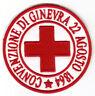 [Patch] CROCE ROSSA ITALIA CONVENZIONE DI GINEVRA cm 7,5 ricamo CRI REPLICA -071