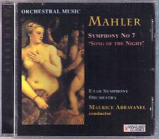 Maurice Abravanel: MAHLER SYMPHONY NO. 7 Vanguard 1997 CD Filarmonica Utah così