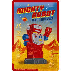 Automatique Robots Weltall Univers Signer Affiche Bouclier Repro Rétro 1564