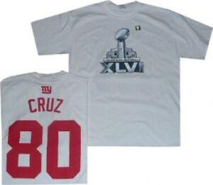 New York Giants Victor Cruz Super Bowl 46 Reebok Gildan T Shirt