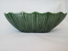 WINDOW BOX PLANTER! Vintage McCOY Mt CLEMENS ART pottery: GREEN gloss: EXCELLENT